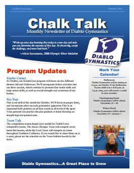 Diablo Gymnastics Newsletter